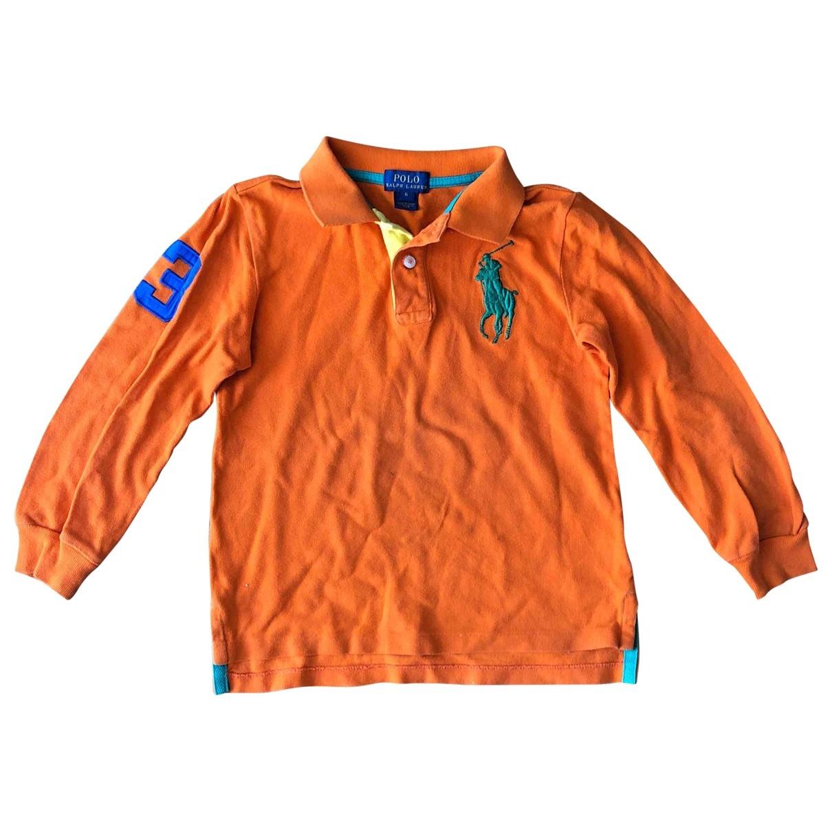 Polo Ralph Lauren \N Oberteile in  Orange Baumwolle