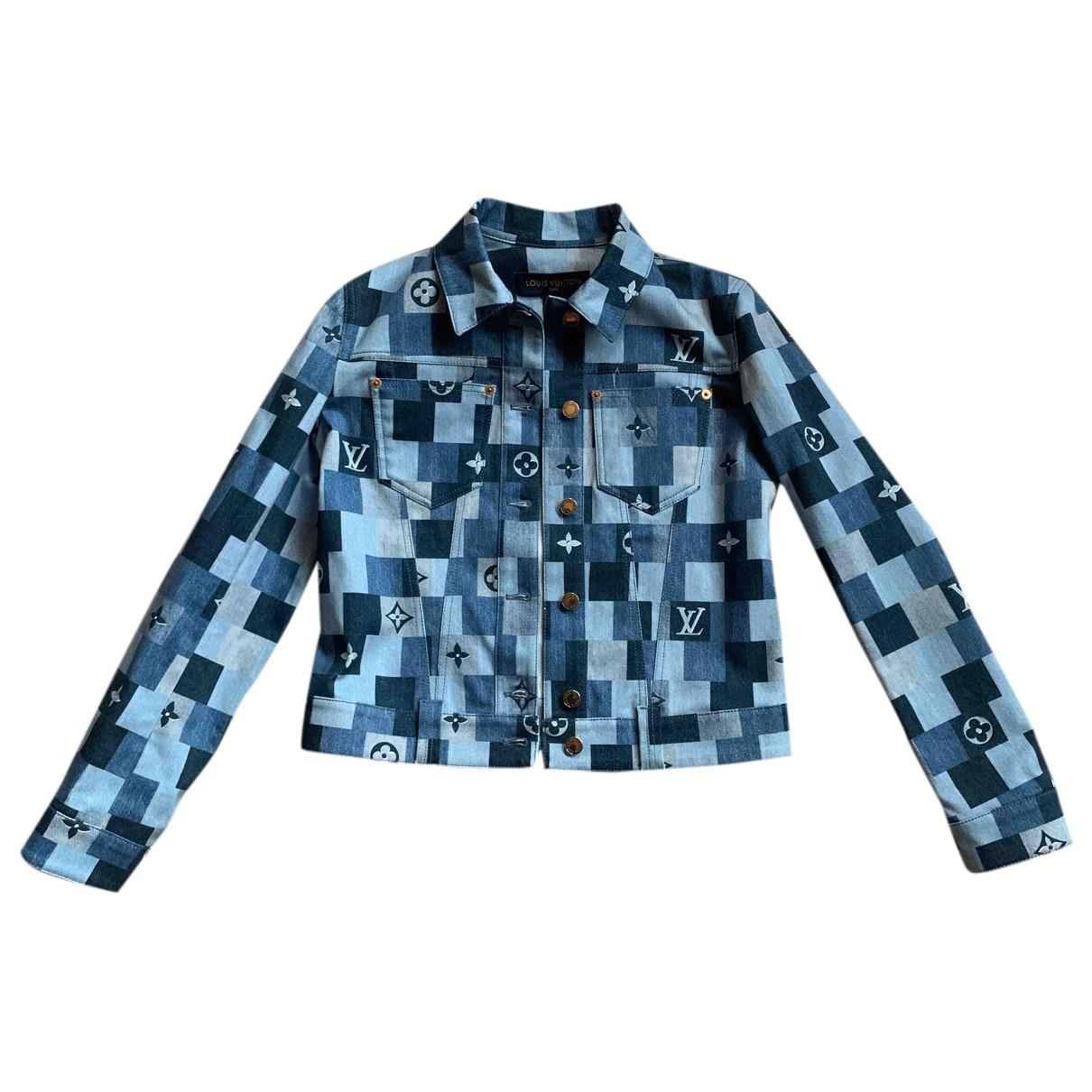 Louis Vuitton - Veste   pour femme en denim - bleu