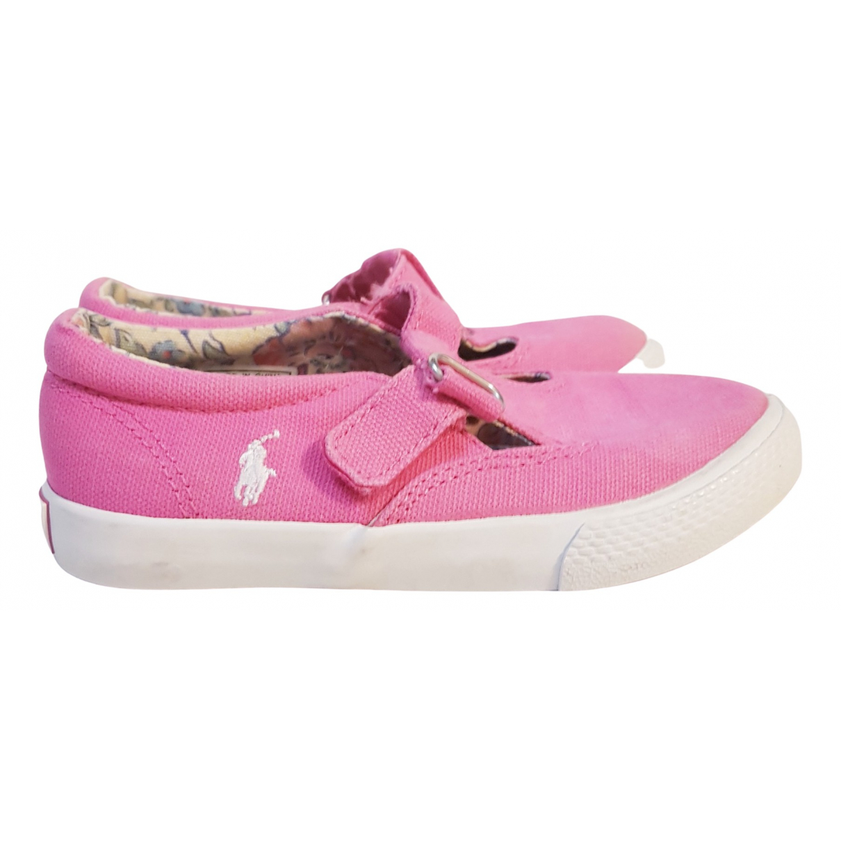Polo Ralph Lauren \N Pink Cloth Trainers for Kids 26 FR