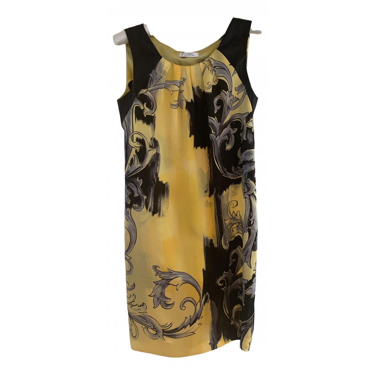 Versace - Robe   pour femme en soie - jaune
