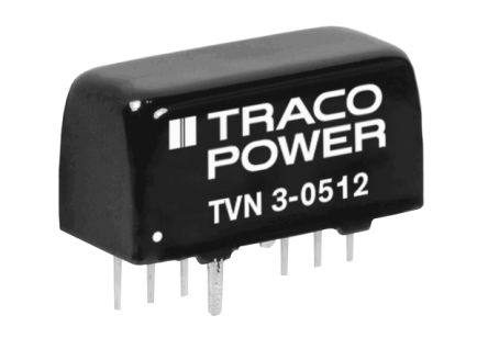 TRACOPOWER TVN 3 3W Isolated DC-DC Converter Through Hole, Voltage in 4.5 → 13.2 V dc, Voltage out 9V dc