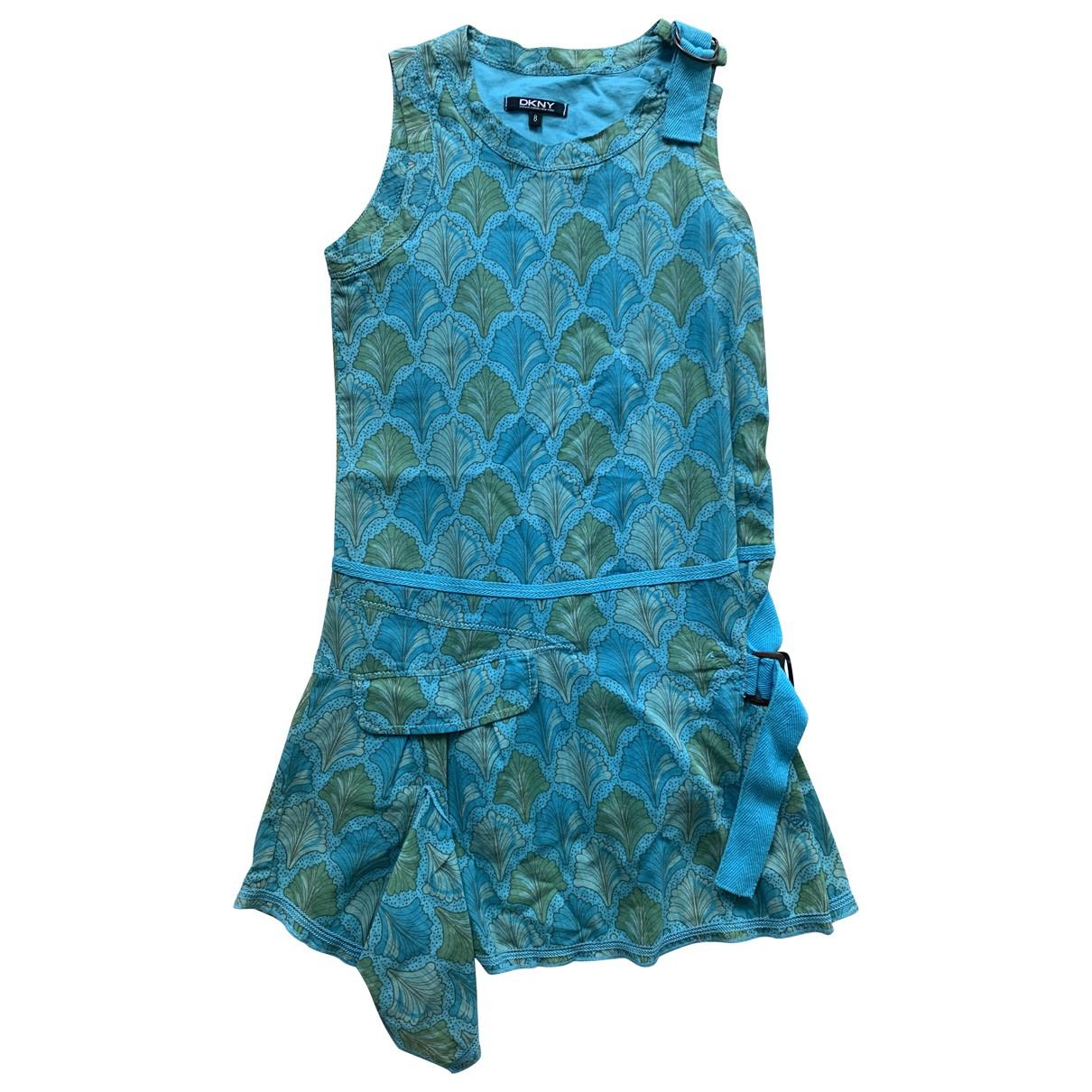 Dkny - Robe    pour enfant en coton - bleu