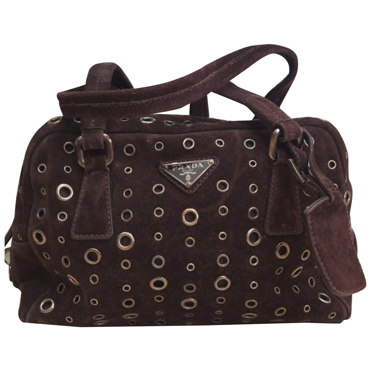 Prada \N Brown Suede handbag for Women \N