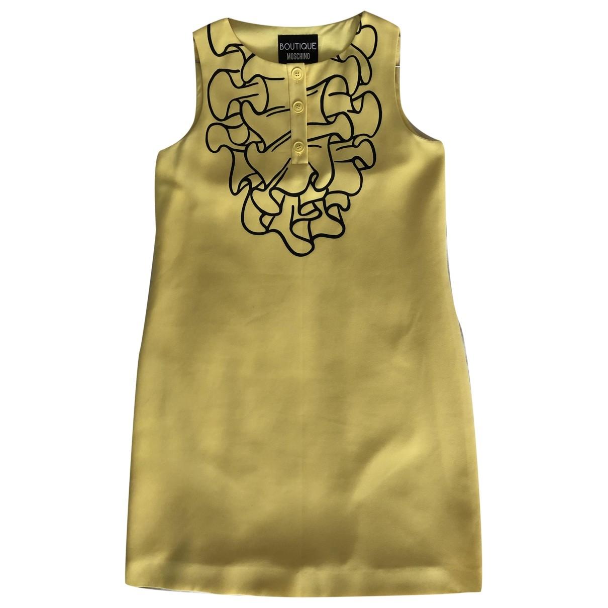 Moschino \N Kleid in  Gelb Polyester