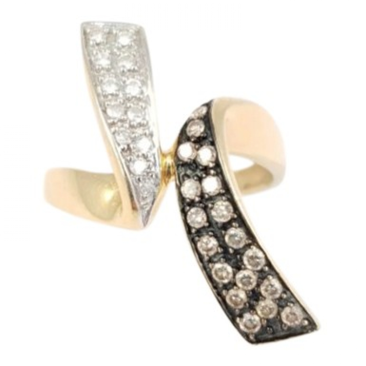 Non Signe / Unsigned Bagues Cocktails Ring in  Gold Gelbgold