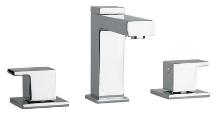 12214-81 Two Lever Handle Widespread Lavatory Faucet With Linear Matched Spout  Brushed Nickel