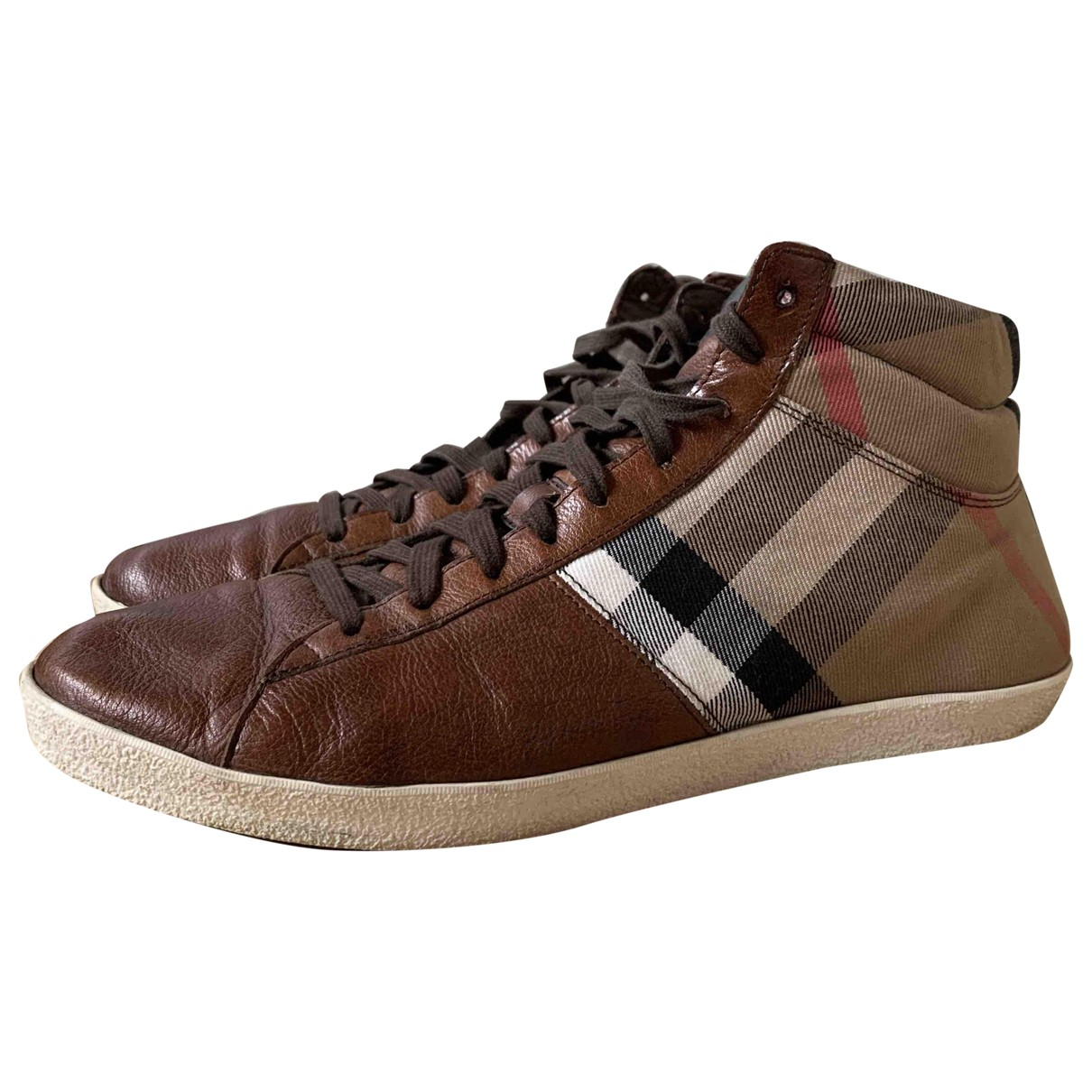 Burberry \N Brown Leather Trainers for Men 43 EU