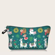 Christmas Animal Pattern Makeup Bag