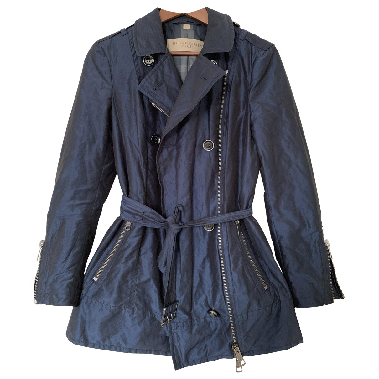 Burberry \N Blue jacket for Women 38 IT
