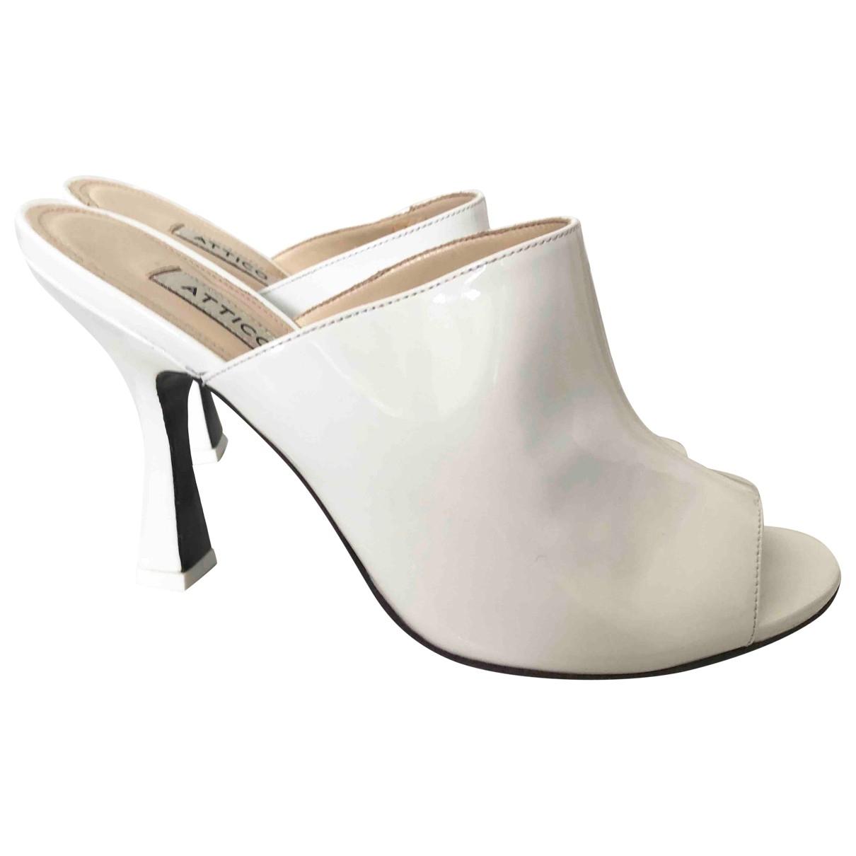 Attico \N White Patent leather Mules & Clogs for Women 40 EU