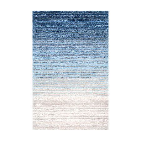 nuLoom Hand Tufted Ombre Rug, One Size , Blue
