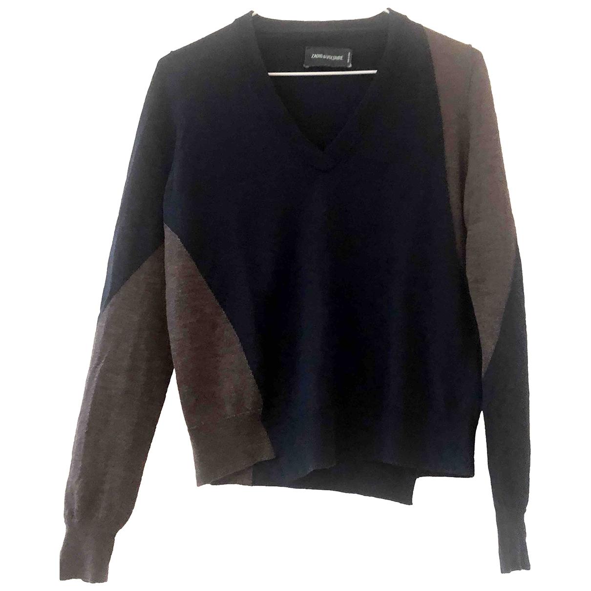 Zadig & Voltaire - Pull   pour femme en laine - bleu