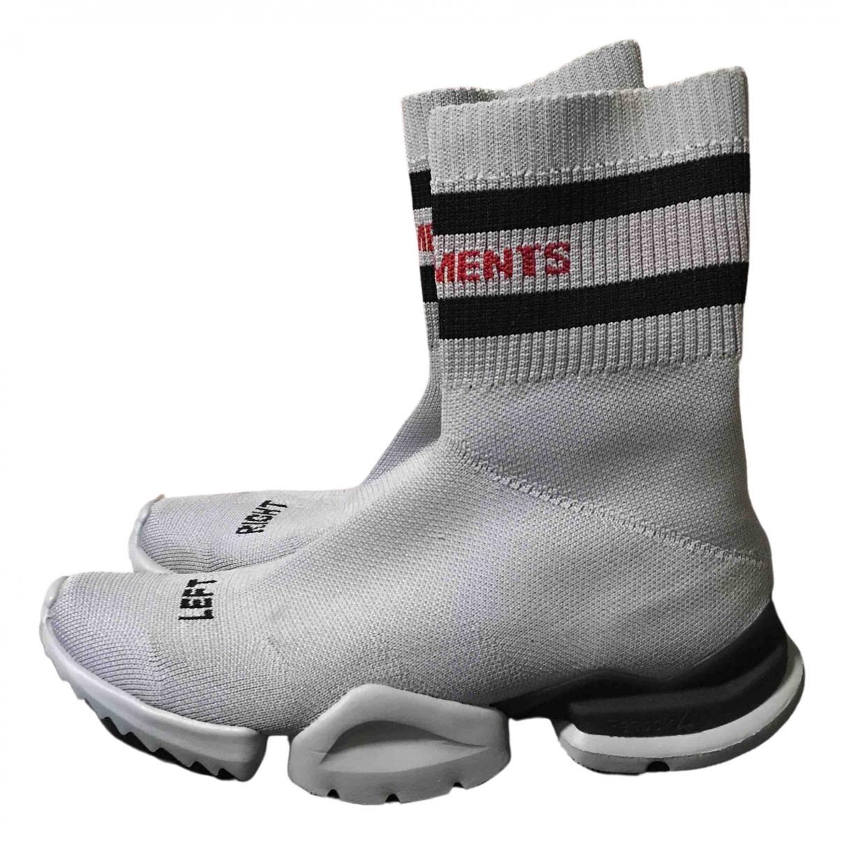 Reebok X Vetements \N Sneakers in  Grau Polyester
