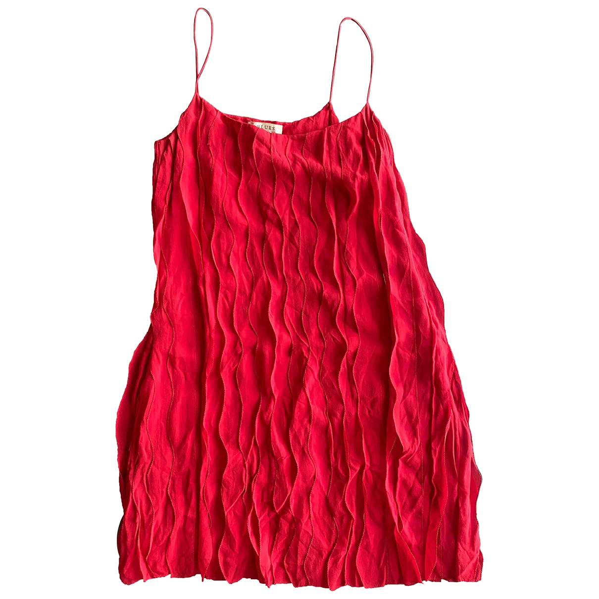 Non Signé / Unsigned \N Red Silk dress for Women 42 IT