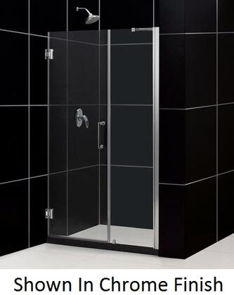 SHDR-20537210-04 Unidoor 53-54 In. W X 72 In. H Frameless Hinged Shower Door With Support Arm In Brushed