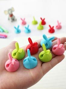 Random Color Rabbit Ear Data Line Holder 4pcs