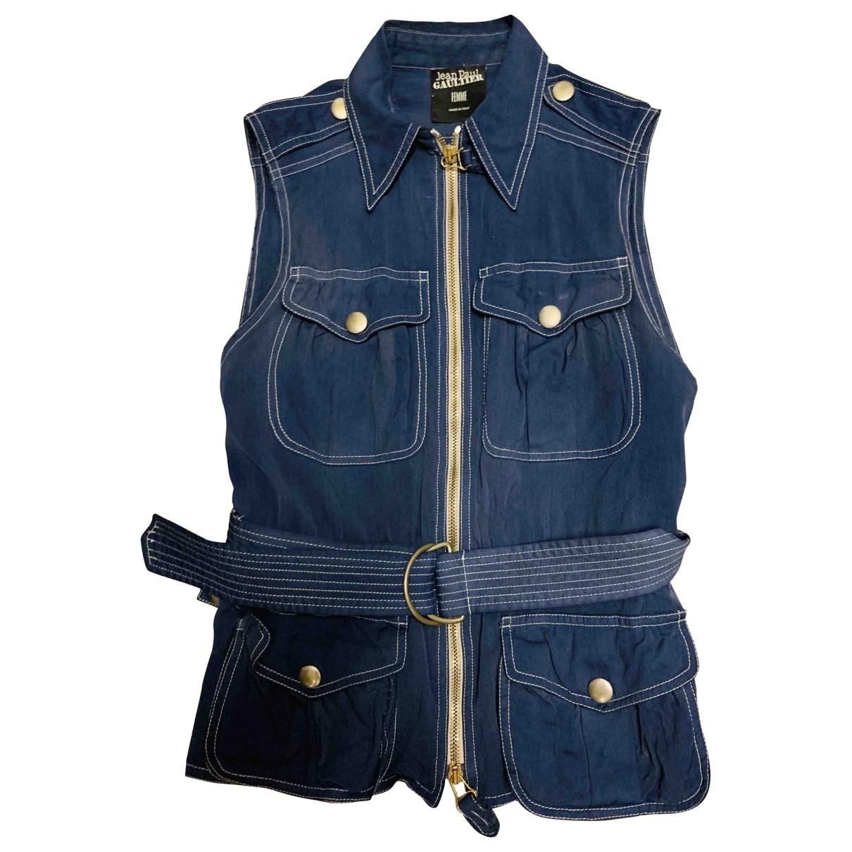 Jean Paul Gaultier \N Jacke in  Blau Wolle