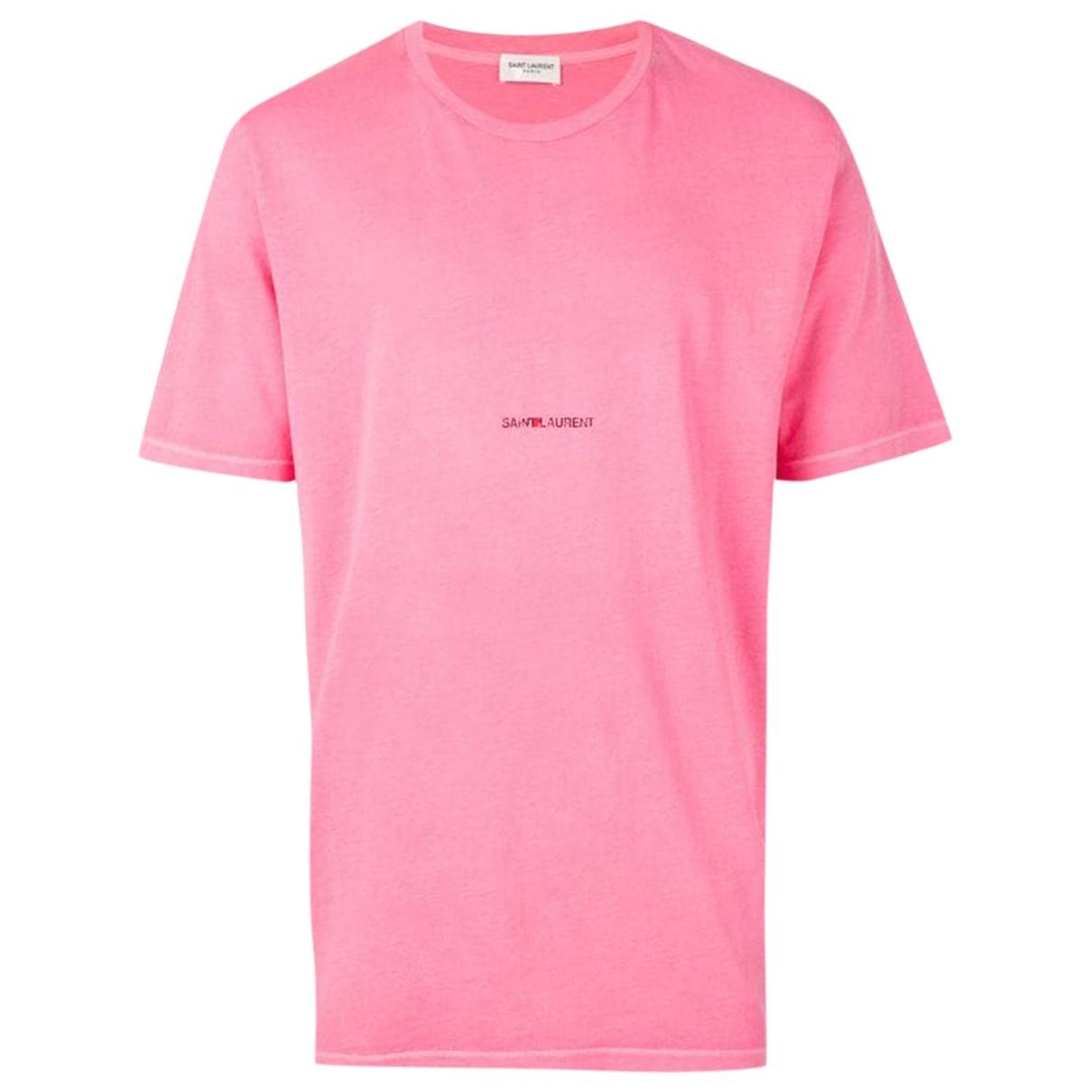 Saint Laurent - Top   pour femme en coton - rose