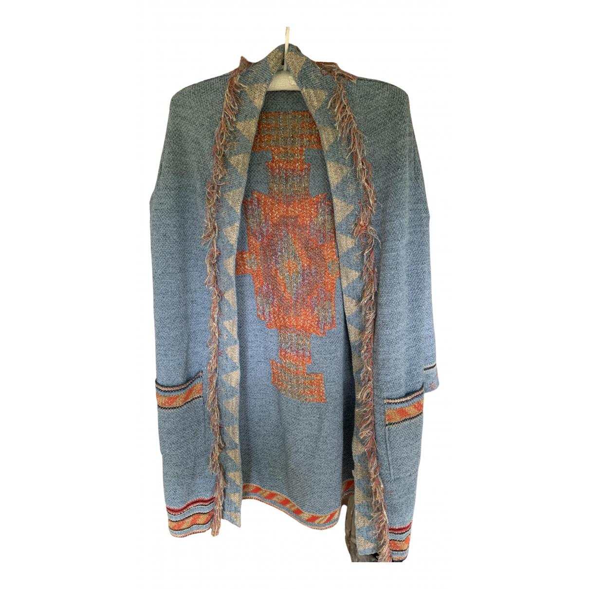 Forte_forte - Veste   pour femme en coton - bleu