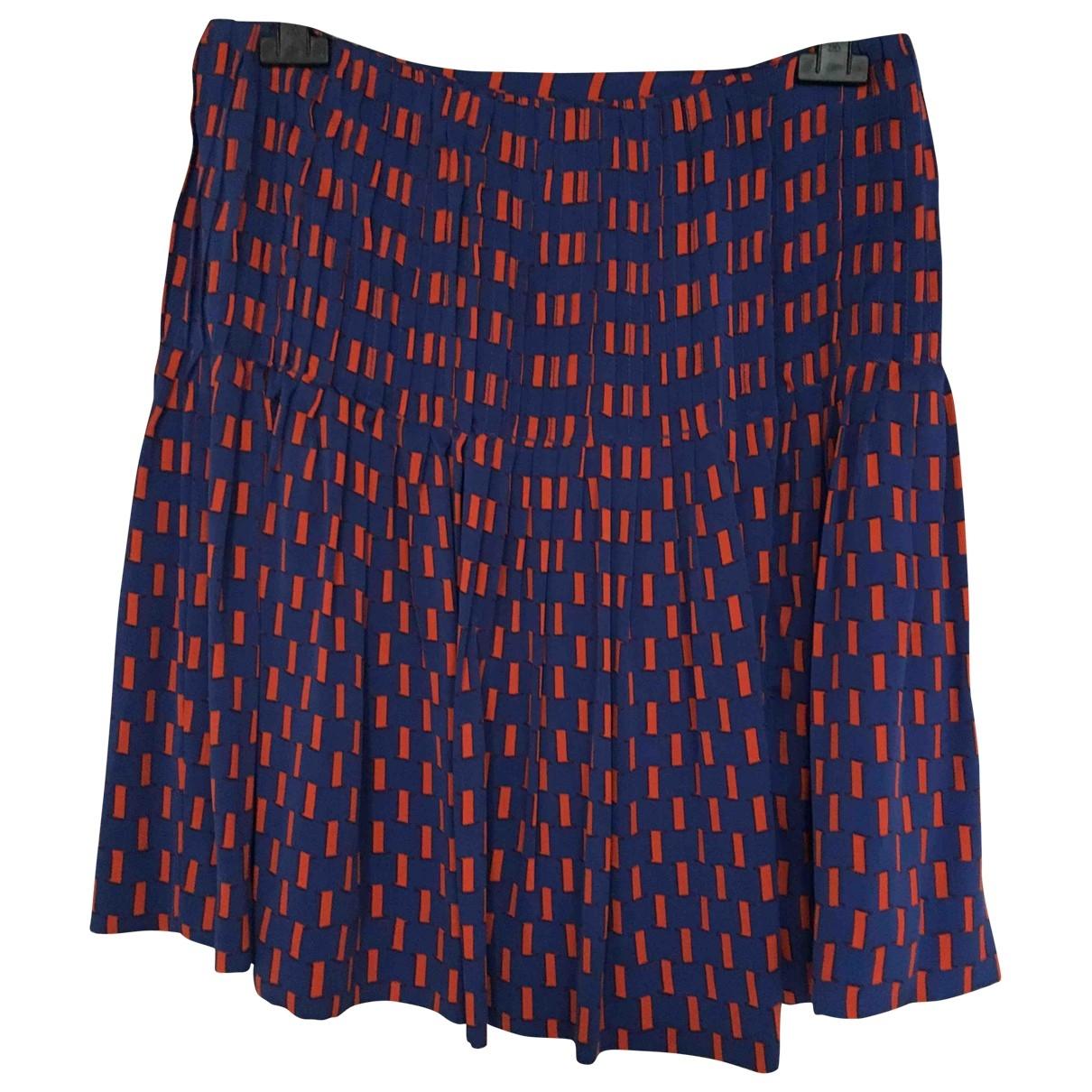 Diane Von Furstenberg \N Blue Silk skirt for Women 12 US