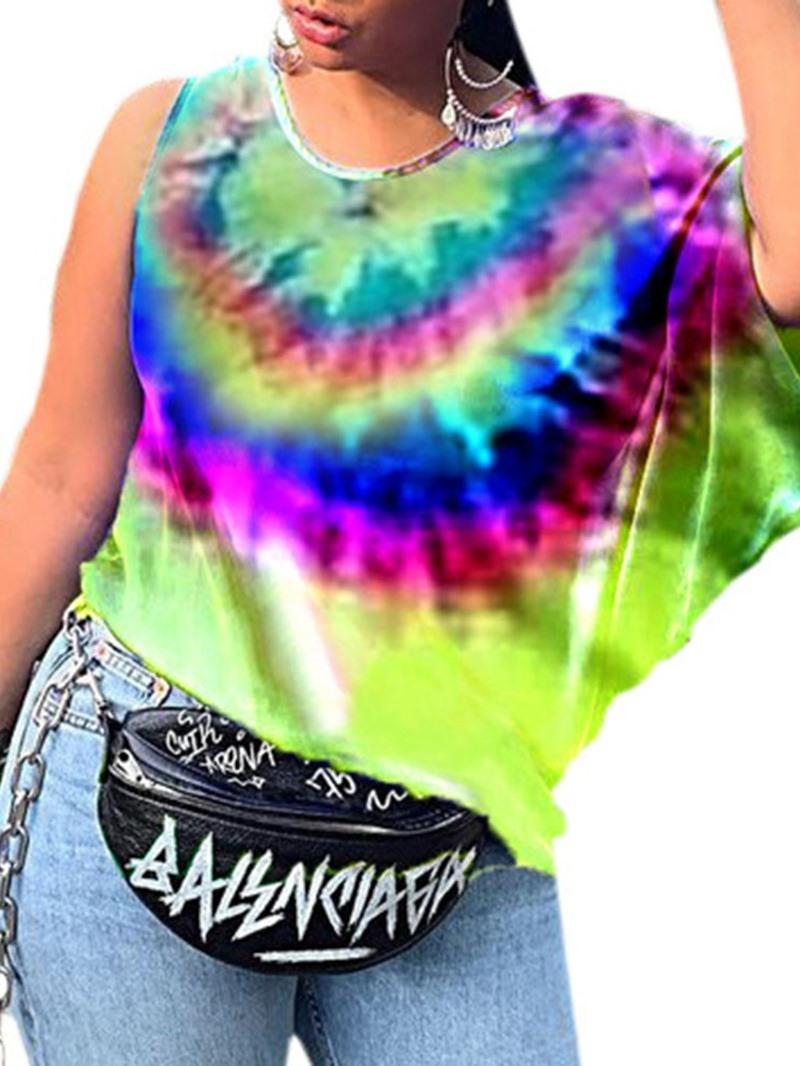 Ericdress Short Sleeve Color Block Loose Summer T-Shirt
