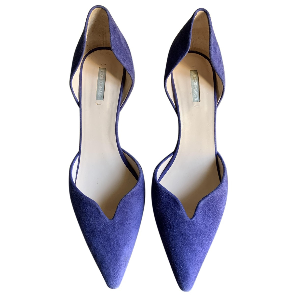 Giorgio Armani - Escarpins   pour femme en suede - violet