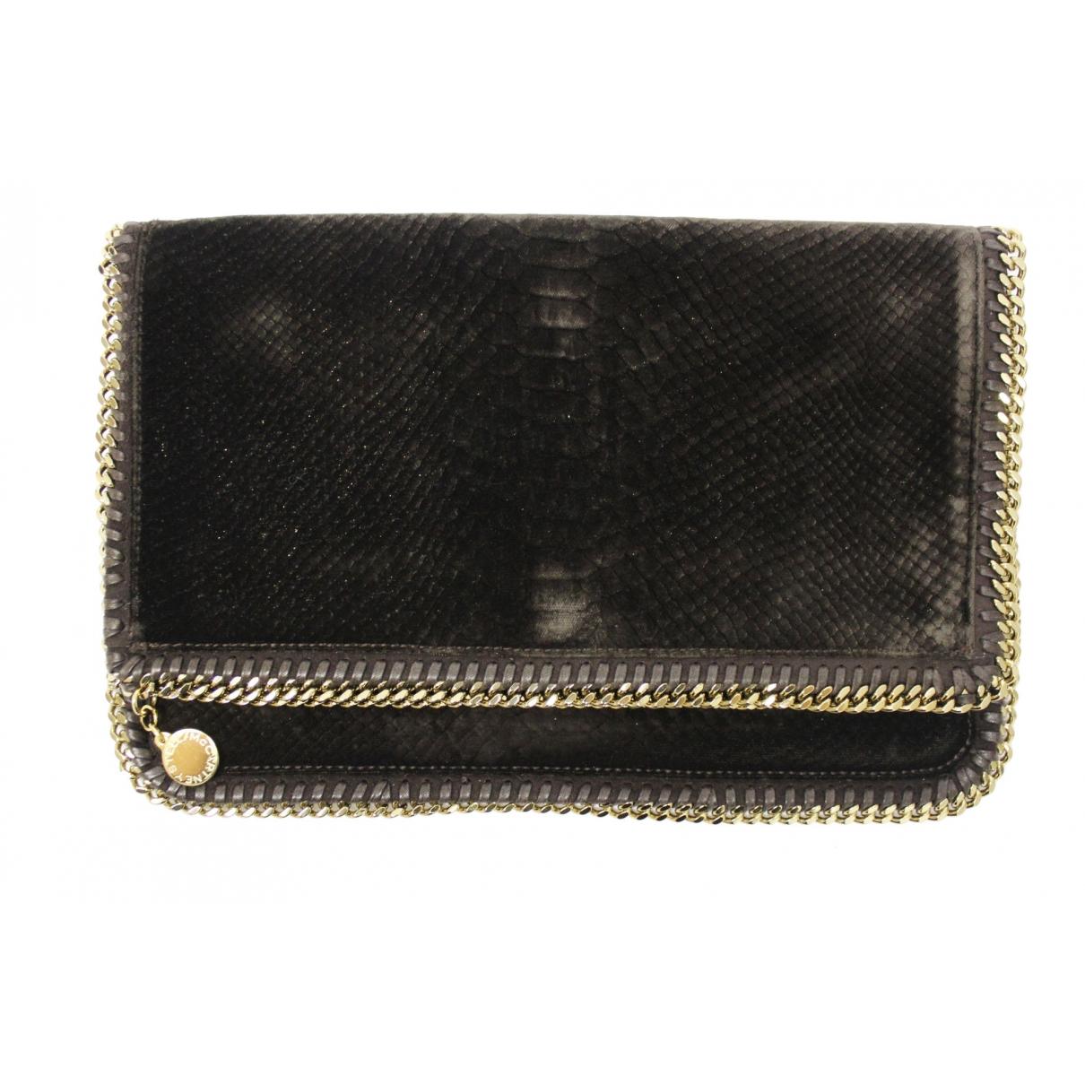 Stella Mccartney Falabella Brown Velvet Clutch bag for Women \N