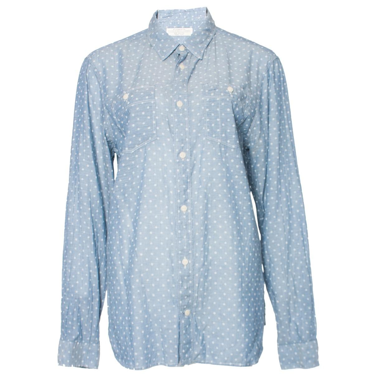 All Saints - Top   pour femme en coton - bleu