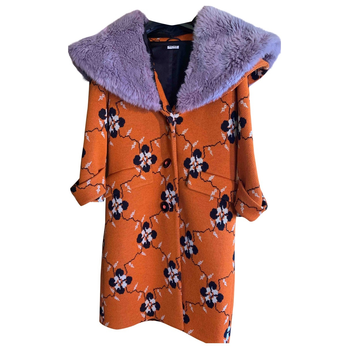 Miu Miu - Manteau   pour femme en coton - orange