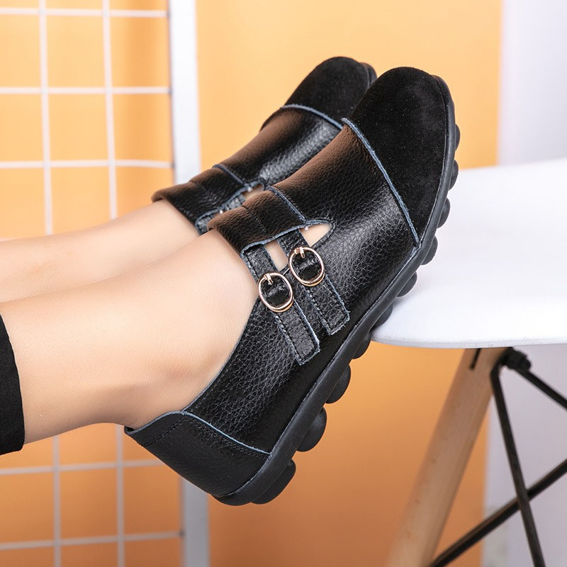 Ericdress Round Toe Buckle Velcro Low-Cut Upper Thin Shoes