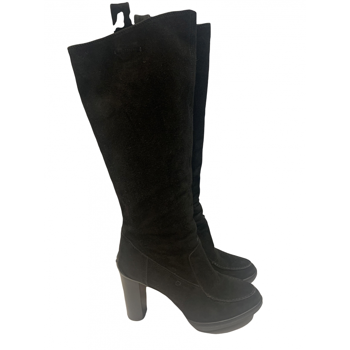 Tod's \N Black Leather Boots for Women 37.5 EU