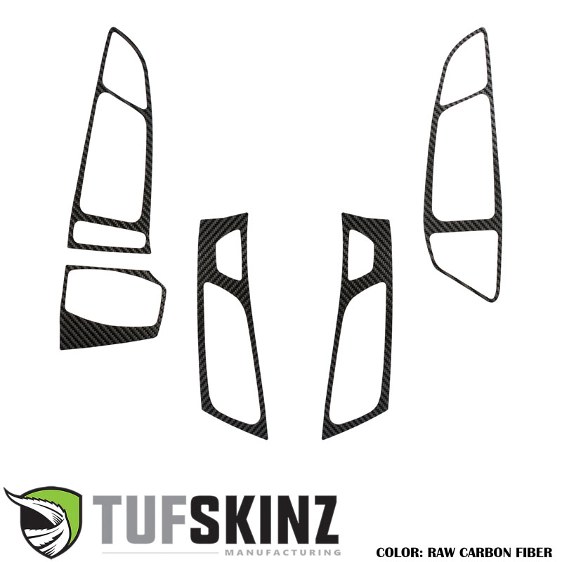 Tufskinz FOC023-RCF-X Interior Air Vents Accent Trim Fits 16-18 Ford Focus RS 5 Piece Kit in Raw Real Carbon Fiber