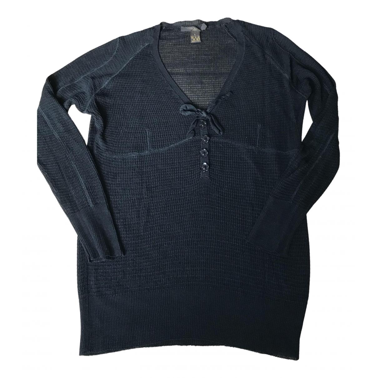 Louis Vuitton - Top   pour femme en soie - noir