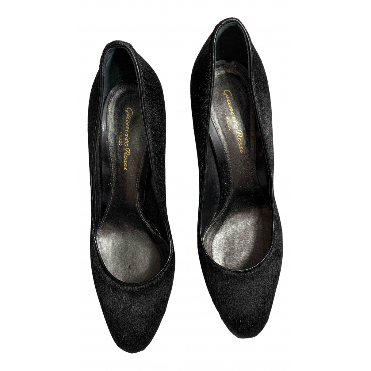 Gianvito Rossi N Black Pony-style calfskin Heels for Women 41.5 IT