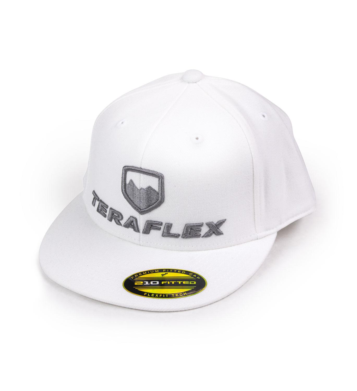 Premium FlexFit Flat Visor Hat -White Small / Medium TeraFlex 5237028
