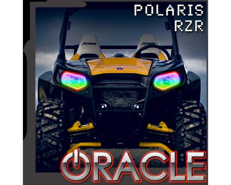 Oracle Lighting 1273-332 Dynamic RGBW Headlight Halo Kit Polaris RZR 570/800/900 2008-2019