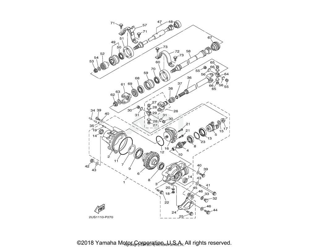Yamaha OEM 2PG-46137-00-00 SEAL 2
