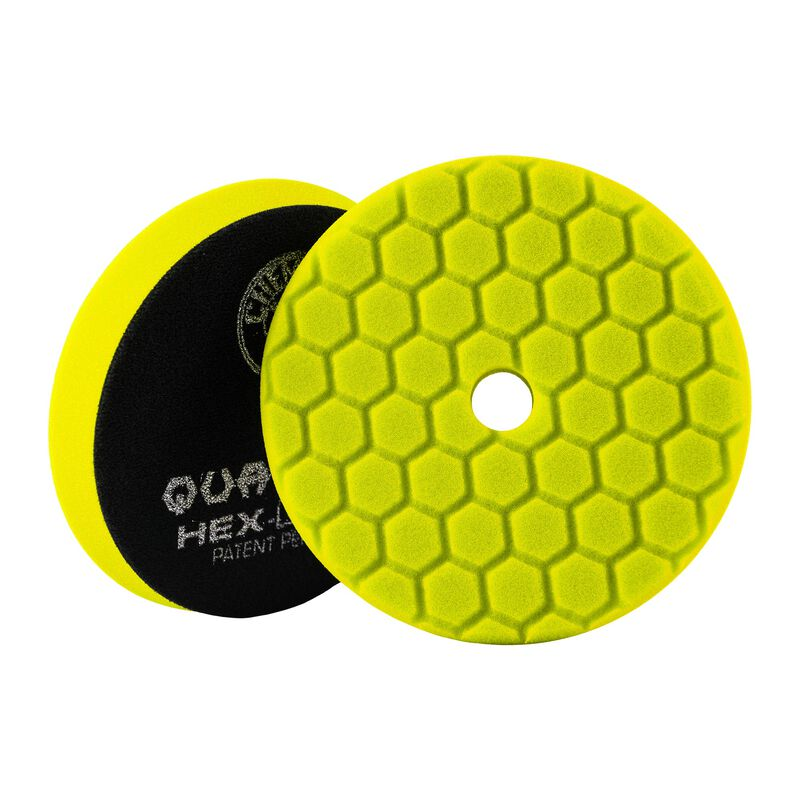 Yellow Hex-Logic Quantum Heavy Car Detailing Cutting Pad, 5 Inch | Chemical Guys