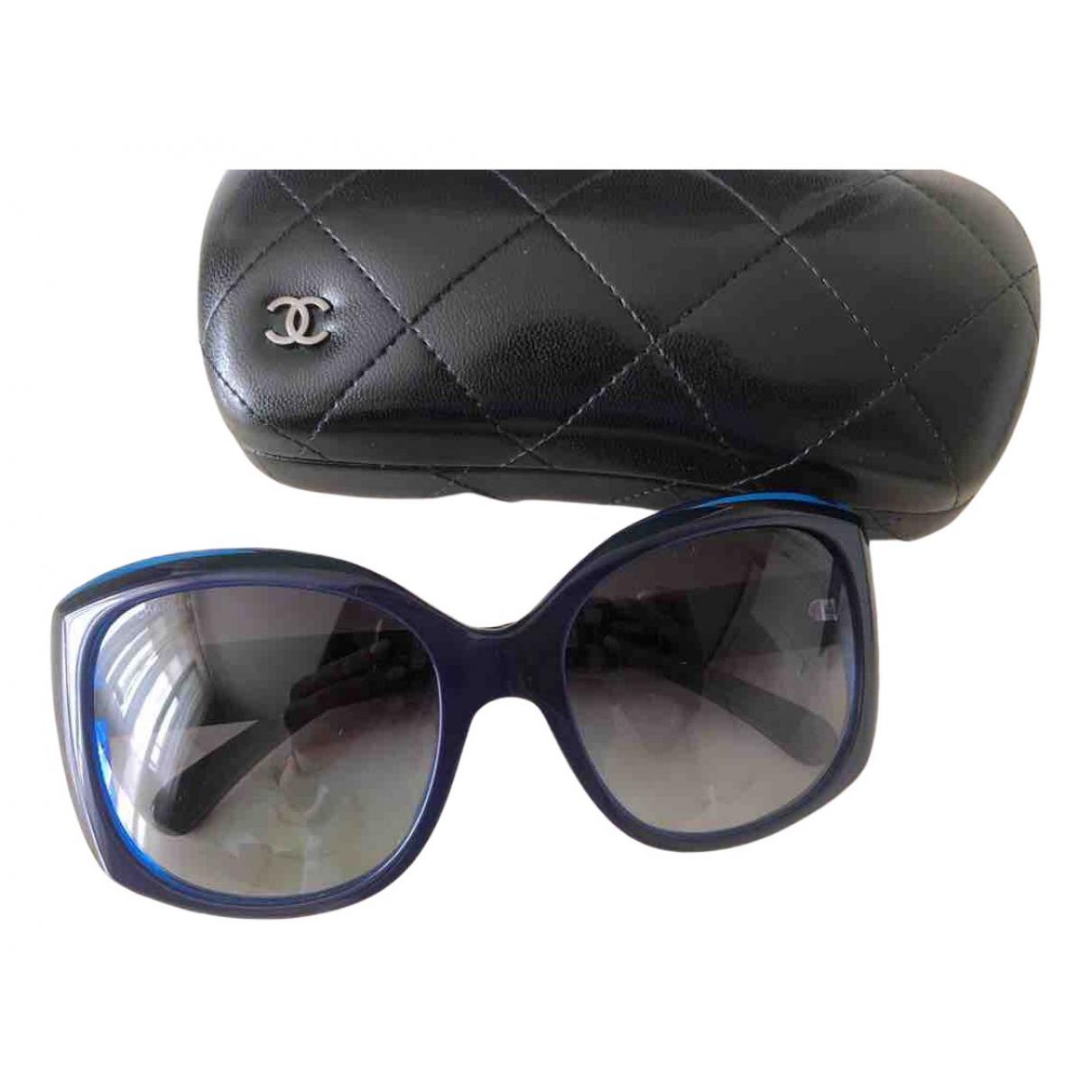 Chanel \N Sonnenbrillen in  Blau Kunststoff