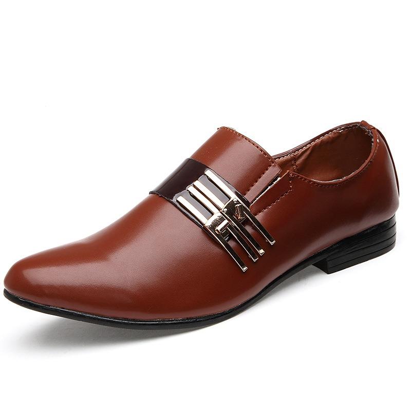 Ericdress Slip on Sequins Square Heel Men's Oxfords