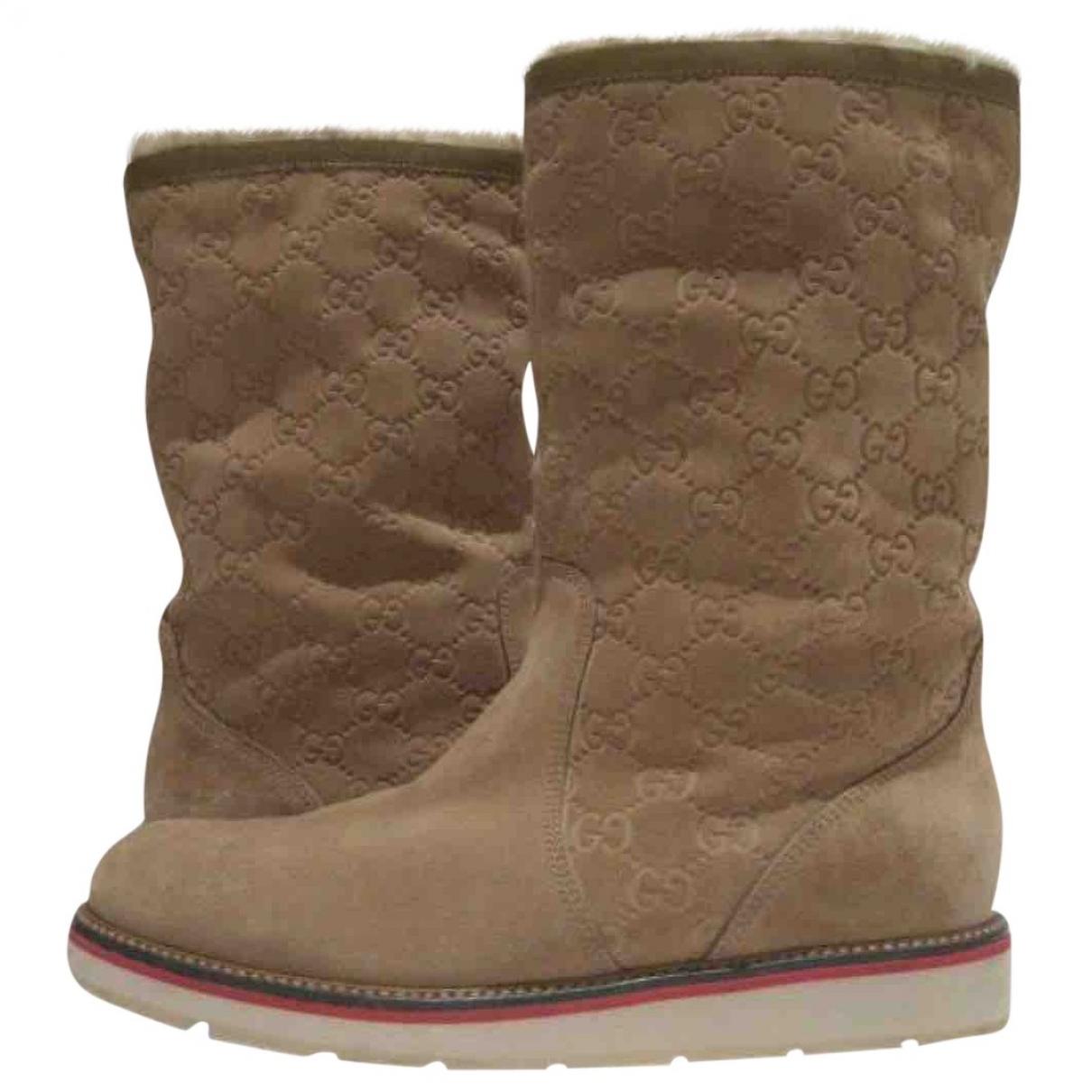 Gucci \N Beige Suede Boots for Men 41 EU