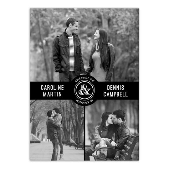 20 Pack of Gartner Studios® Personalized Picturesque Union Flat Wedding Invitation in Black | 5