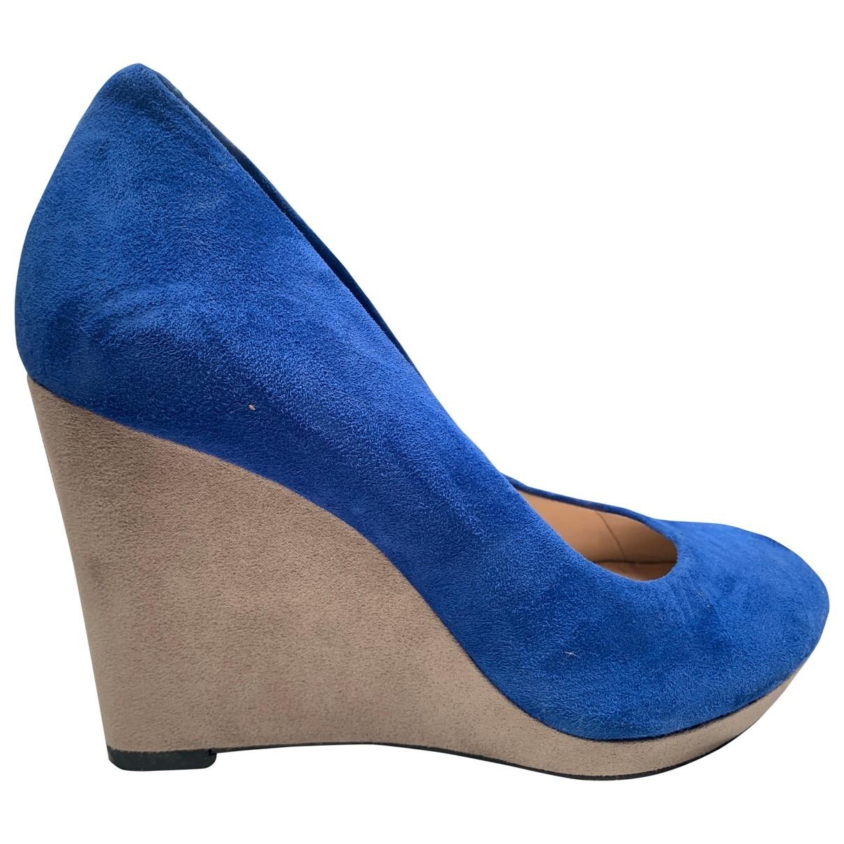 Clarks - Escarpins   pour femme en suede - bleu