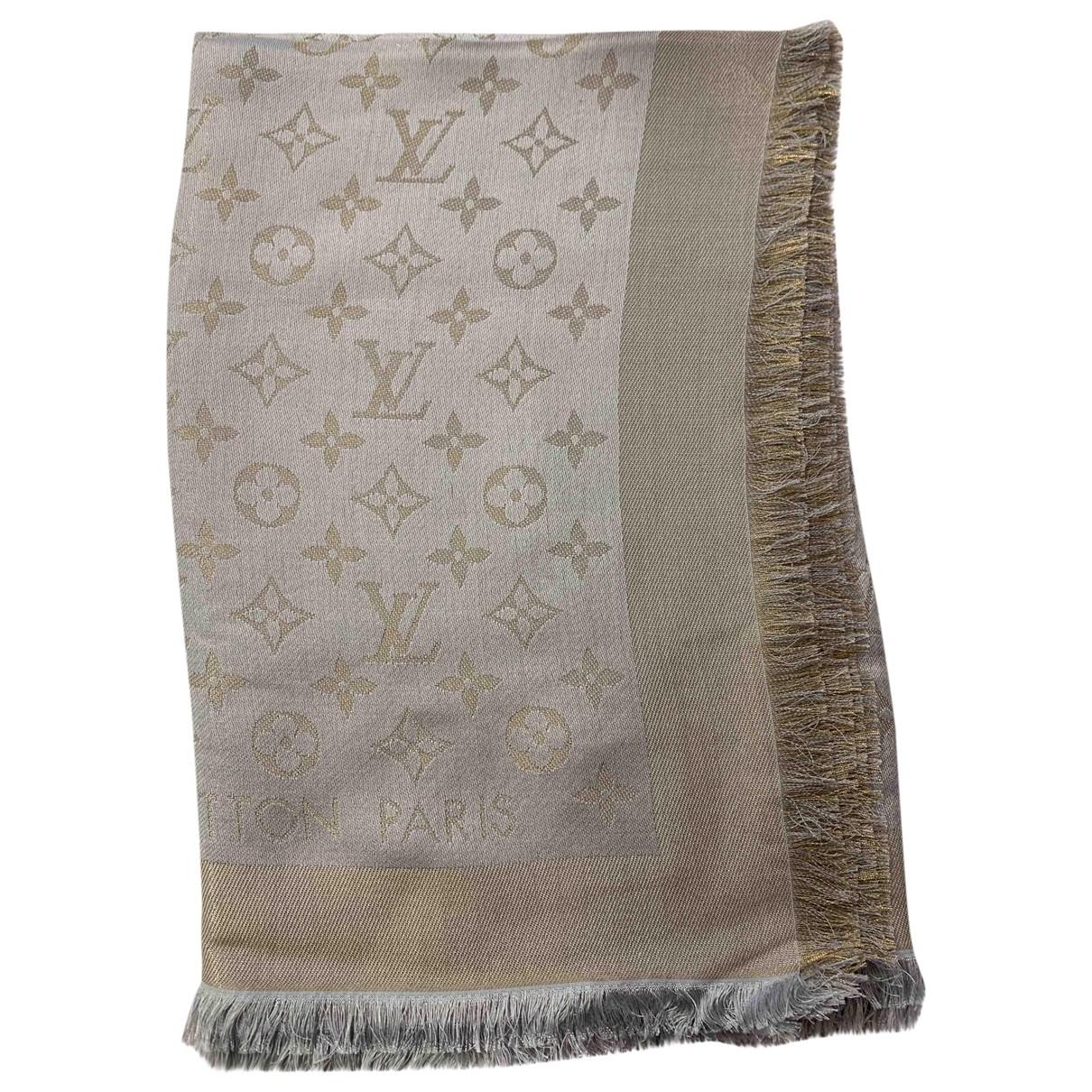 Estola Chale Monogram shine de Seda Louis Vuitton