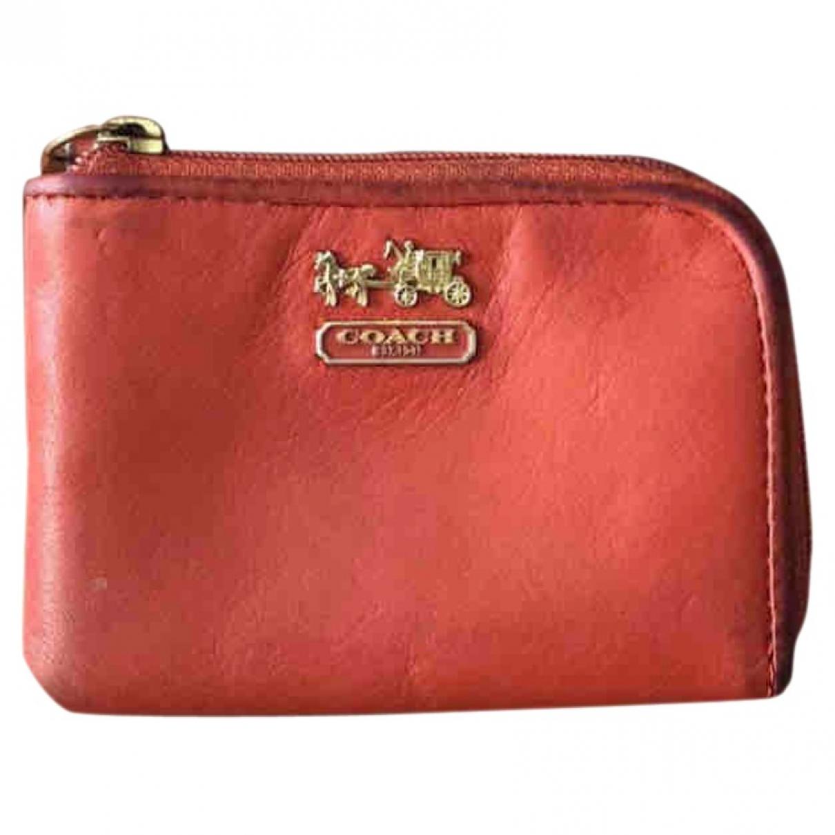 Coach \N Orange Leather wallet for Women \N