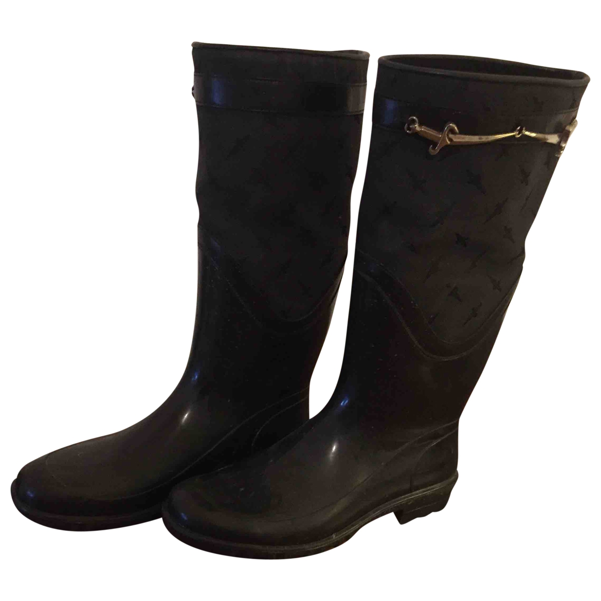 Cesare Paciotti \N Anthracite Rubber Boots for Women 38 EU