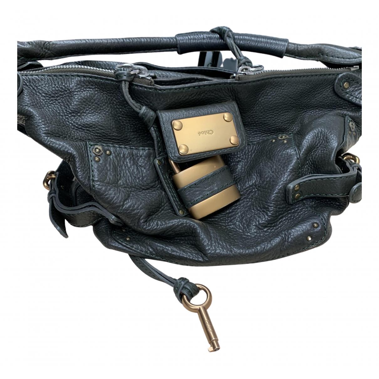 Chloe Paddington Handtasche in  Gruen Leder