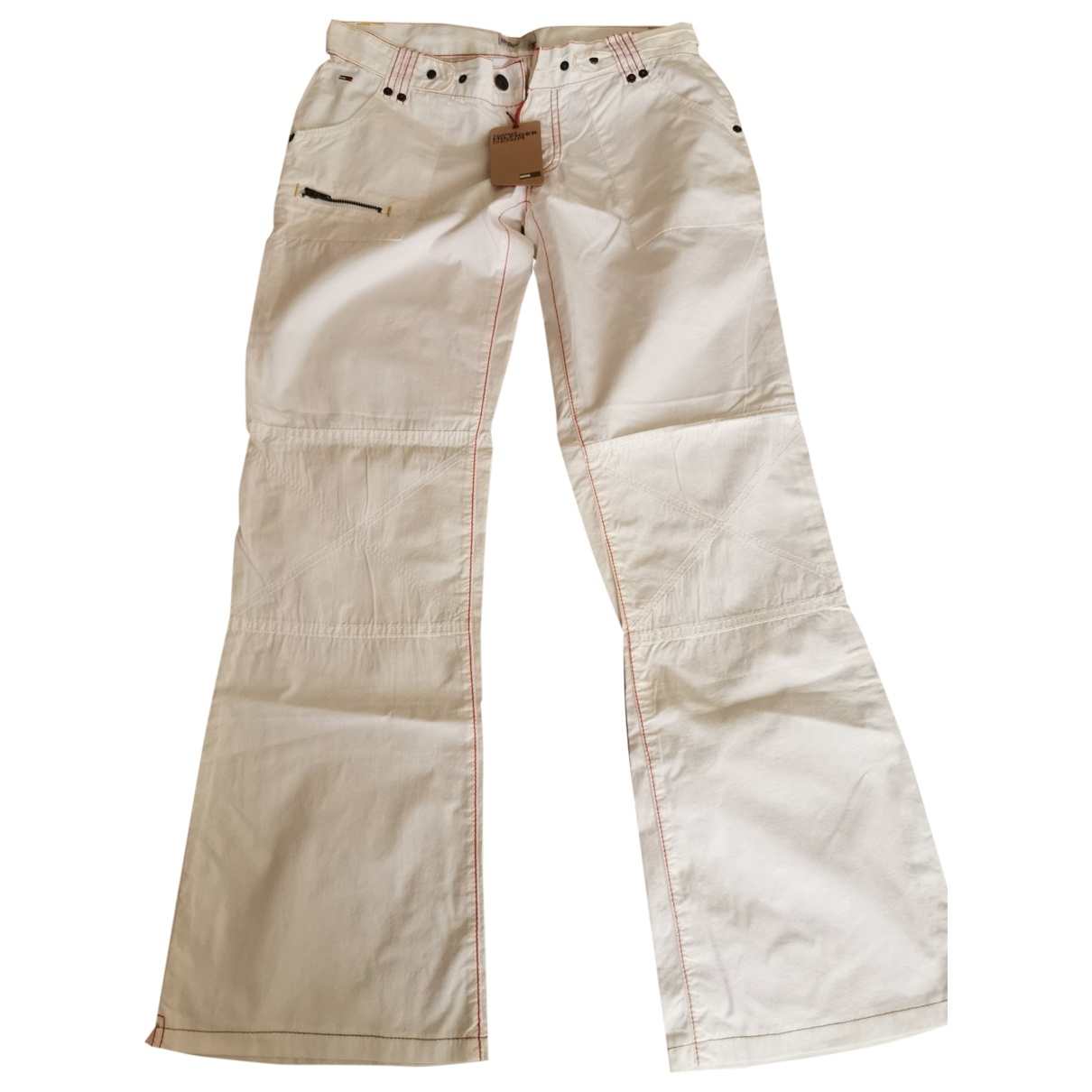 Tommy Hilfiger \N White Cotton Trousers for Women 40 IT