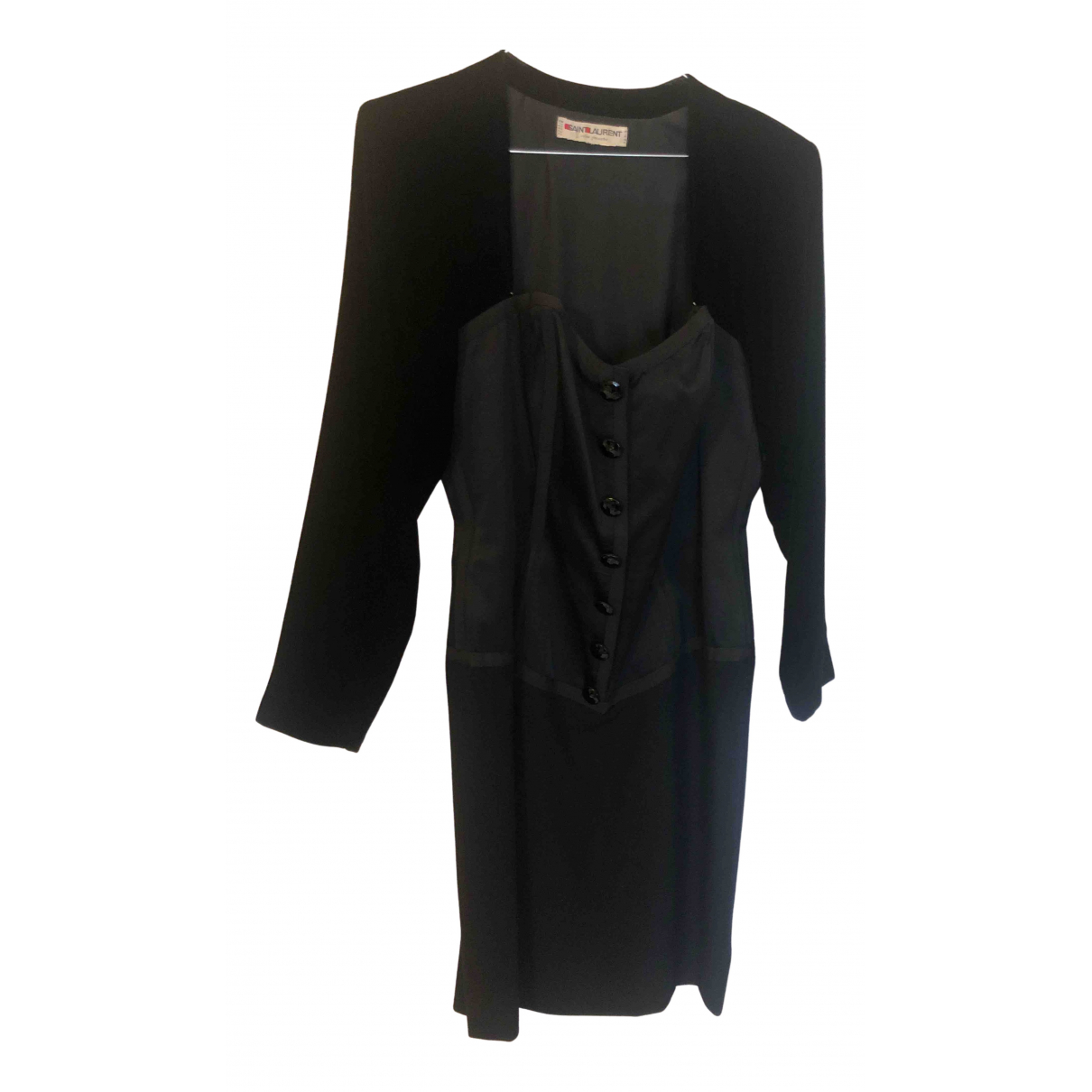 Saint Laurent \N Kleid in  Schwarz Samt