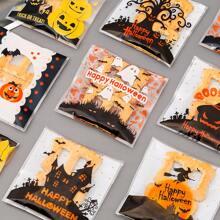 100pcs Halloween Pattern Random Packaging Bag